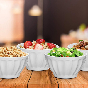 Ceramic Groove Bowls- 6 Piece Set- Multiple Colors - Bruntmor