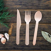 Disposable Eco-Friendly Biodegradable Wooden Cutlery, 250 Set, By Bruntmor - Bruntmor