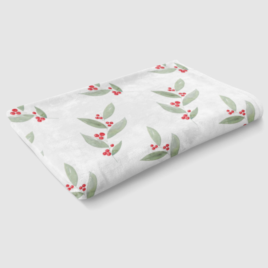 Winterberry Holiday Minky Baby Blanket - Hillary Proctor Studio