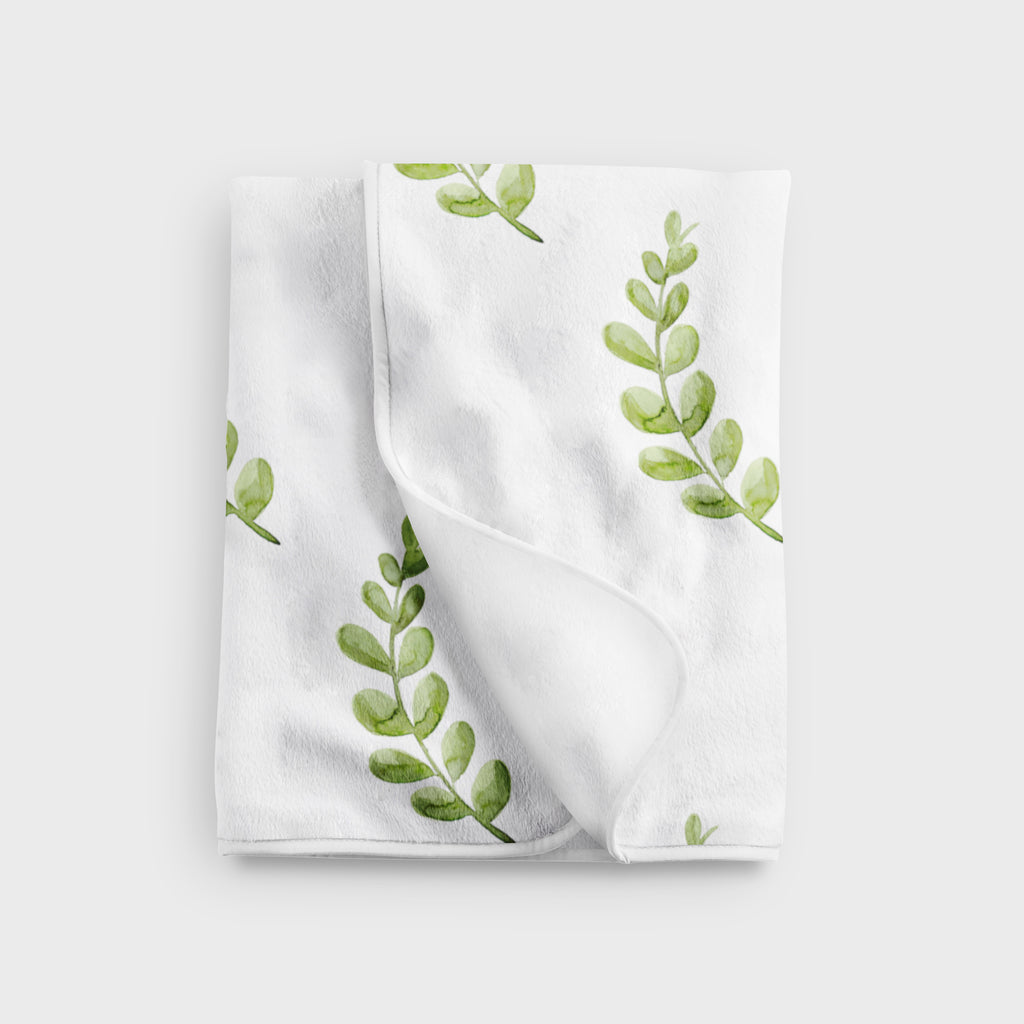 Greenery Fleece Baby Blanket