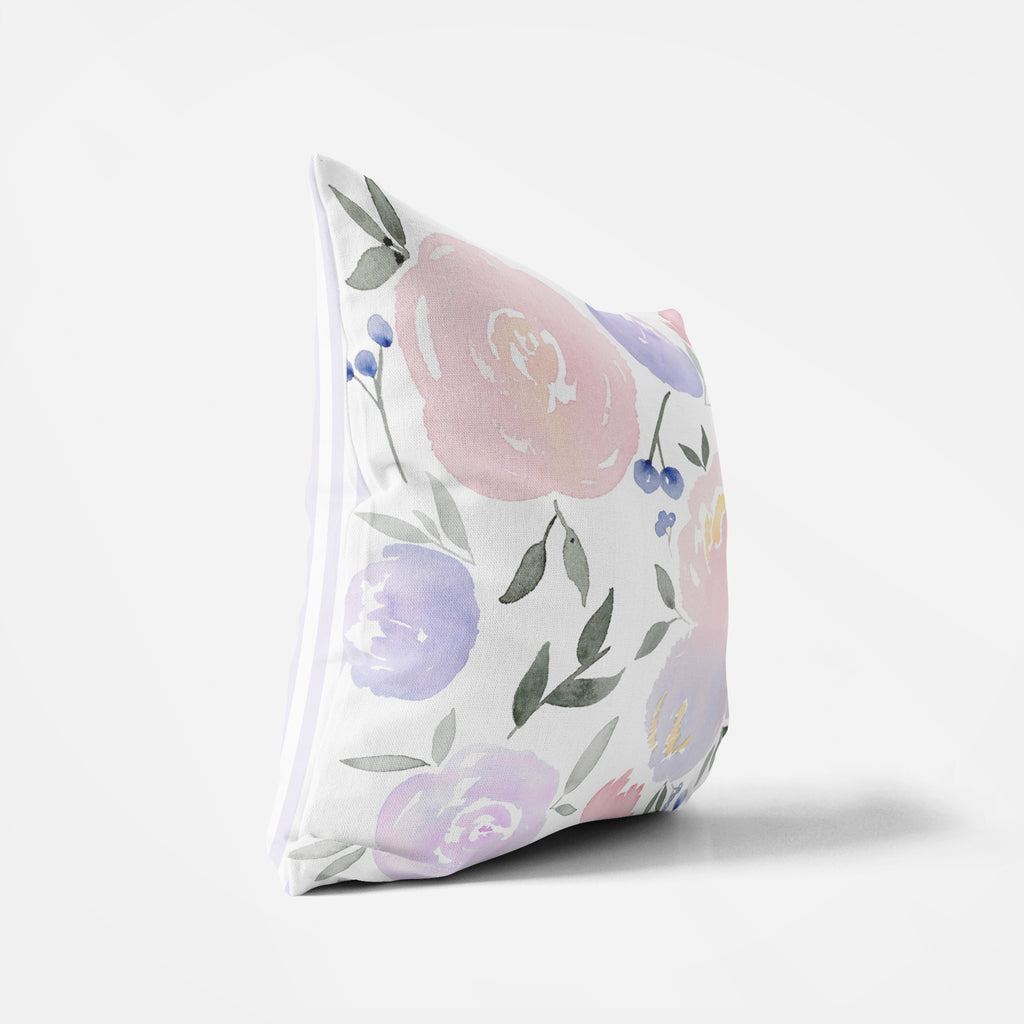 Purple Floral Pillow - Hillary Proctor Studio