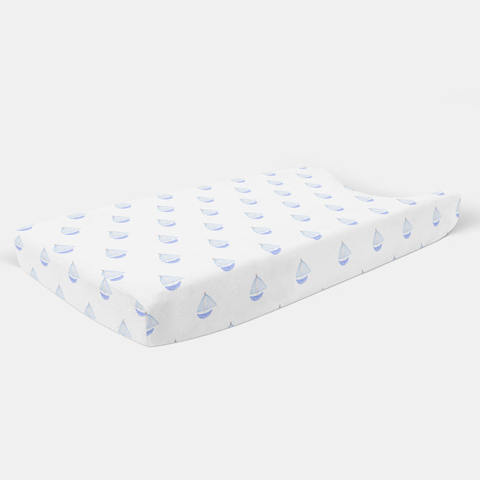 Nautical Sailboat Changing Pad Cover