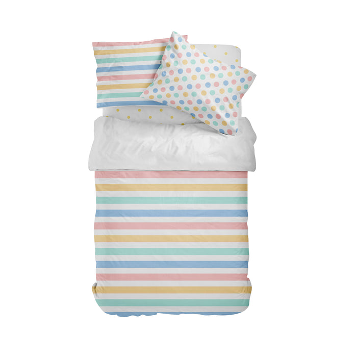 Pastel Stripe Duvet Bedding Set