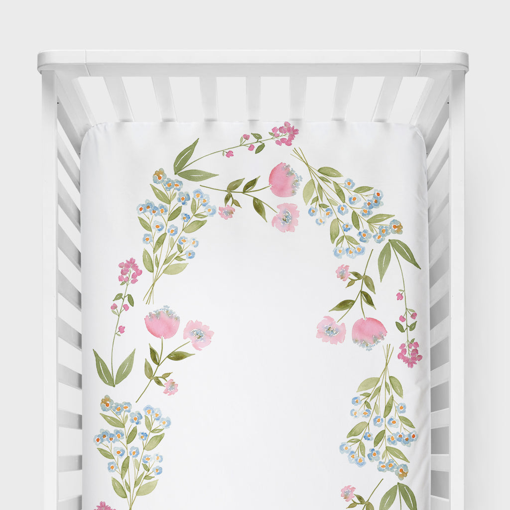 Woodland Wreath Crib Sheet