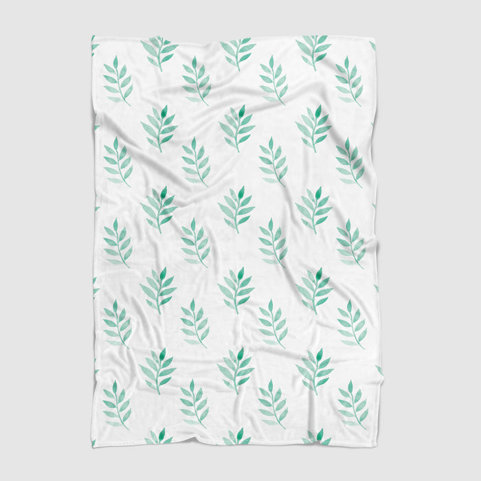 Holiday Leaves Minky Blanket