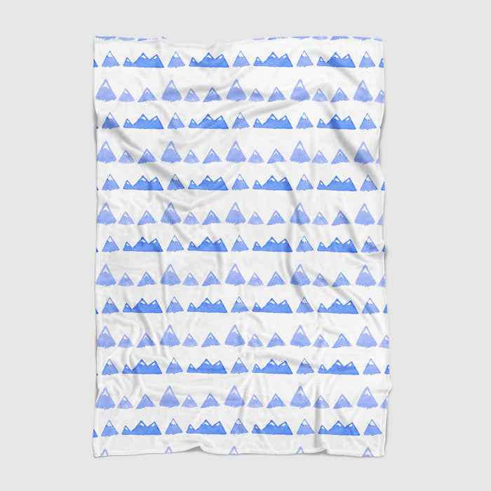 Snowy Mountains Minky Blanket