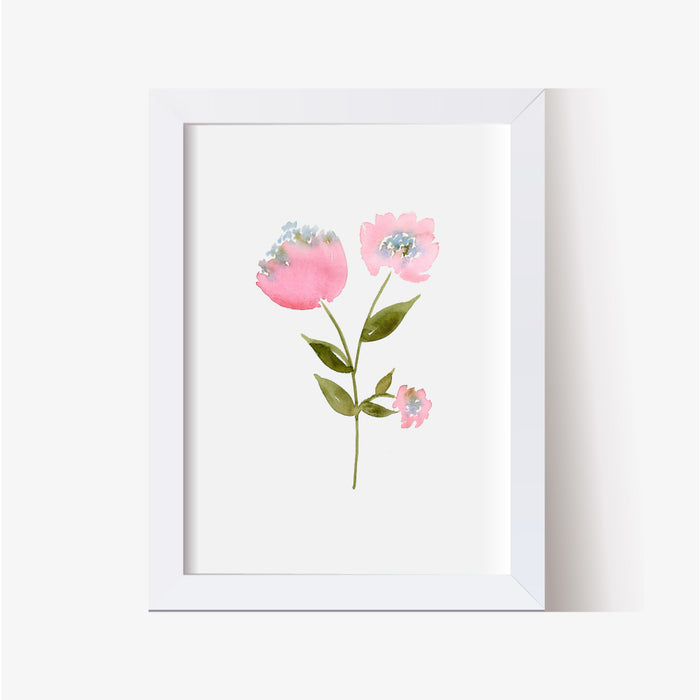 Floral Woodland Nursery Print Collection