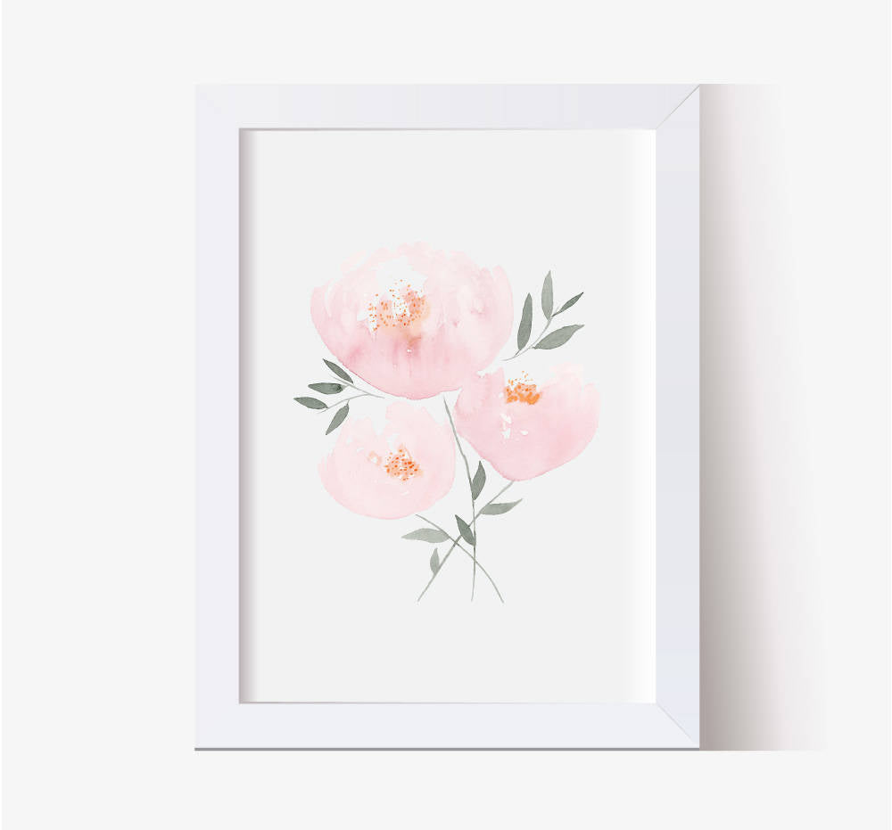 Blush Bouquet Single Print - Hillary Proctor Studio