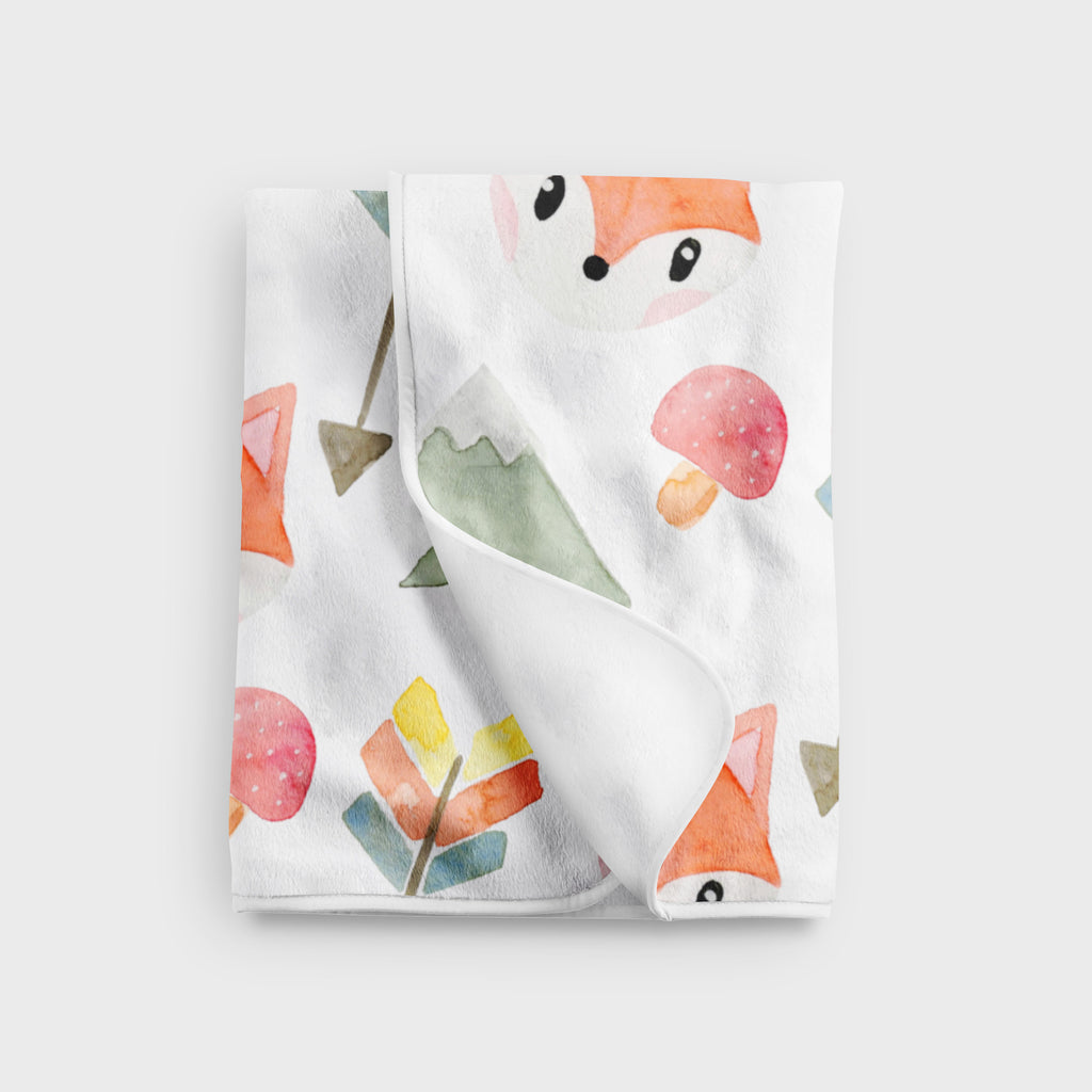 Fox Fleece Baby Blanket - Hillary Proctor Studio