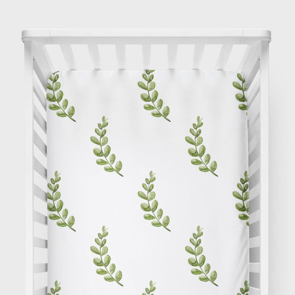 Greenery Crib Sheet - Hillary Proctor Studio