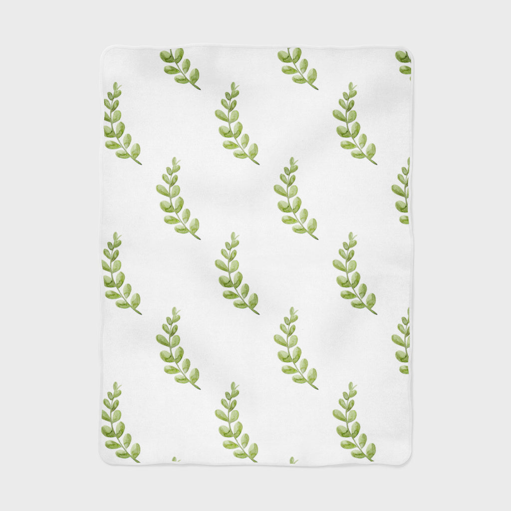 Greenery Fleece Baby Blanket - Hillary Proctor Studio