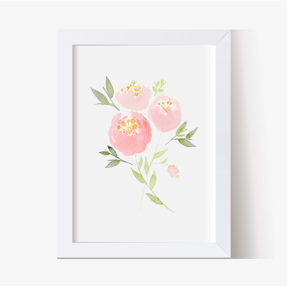 Peony Bouquet Single Print - Hillary Proctor Studio