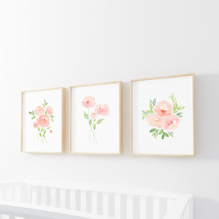 Peach Floral Prints - Hillary Proctor Studio