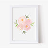 Pink Floral Nursery Print Collection - Hillary Proctor Studio