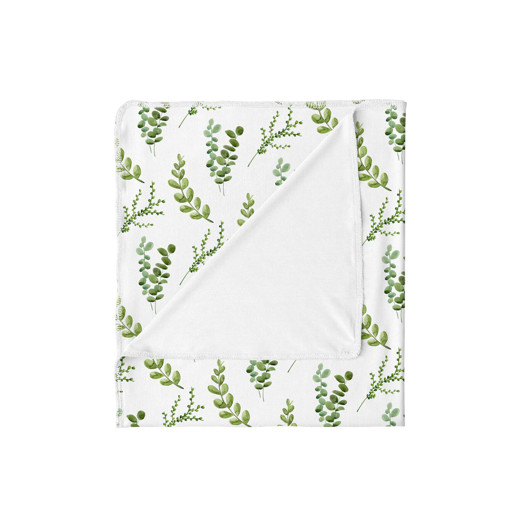 Greenery Botanical Swaddle Blanket