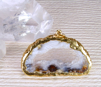 Sliced Geode Pendant