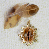Japanese Walnut Slice Pendant