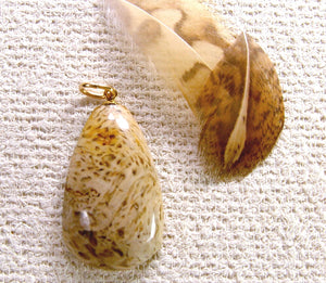 Fossil Palm Wood Root Pendant