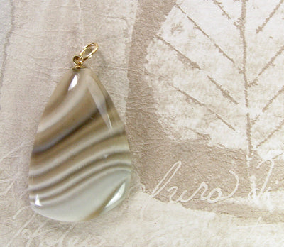 Polish Flint Pendant