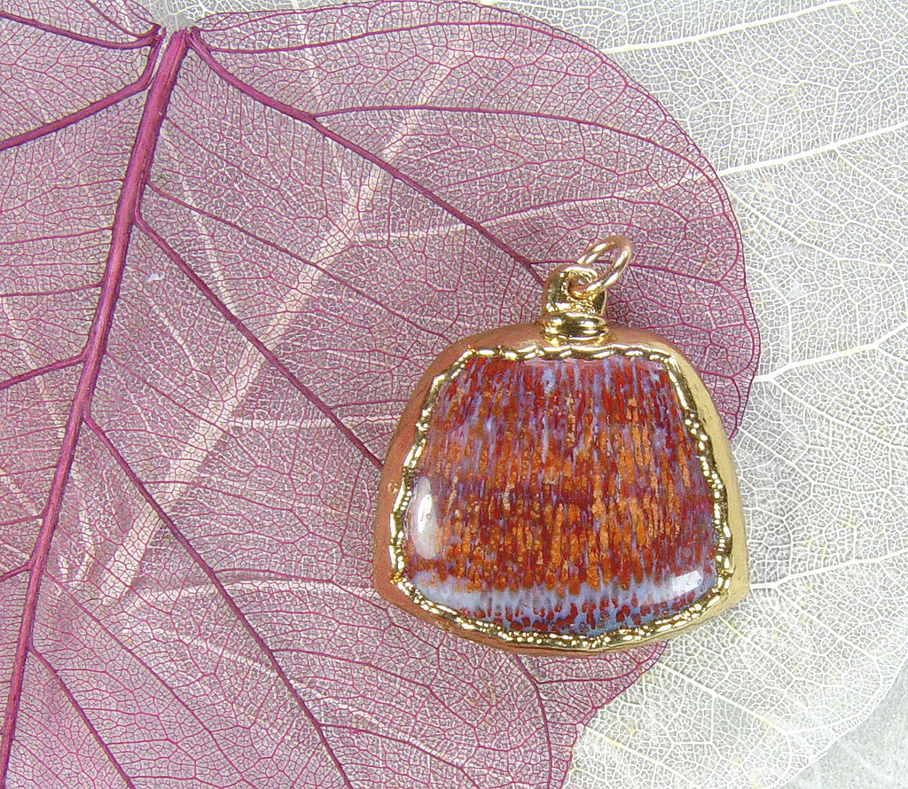 Fossil Palm Wood Pendant