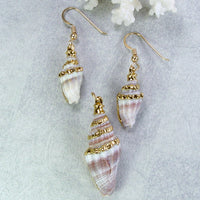 Spiral Shell Earrings And Pendant Set