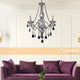 Theresa 3 Light Clear and Chrome Candelabra Chandelier by Amond