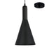 Cyrus Black on Black Hybrid Industrial Pendant by Amond