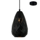 Devin 15cm Black Modern Scale Laser Cut Pendant by Amond