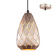 Devin 15cm Gold Modern Scale Laser Cut Pendant by Amond