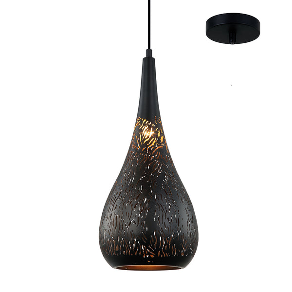 Emery 200mm Laser-cut Designer Teardrop Pendant by Amond
