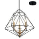 Kerman 3 Light Modern Industrial Black and Bronze Pendant