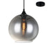 Libby 250mm Smoke Glass Modern Pendant