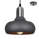 Marley 1 Light Charcoal and Satin Chrome Pendant by Amond