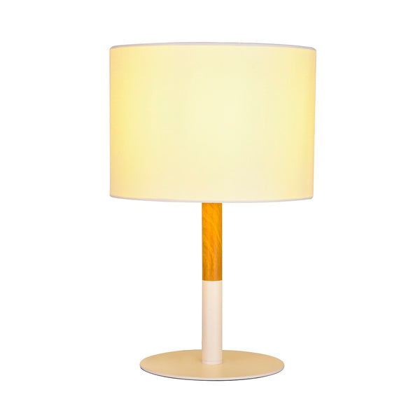 Amara White and Timber Table Lamp by Amond
