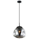Aves 240 Smoke Black Dimple Glass Pendant by Amond