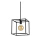 Bourke 1 Light Box Metal Frame Pendant