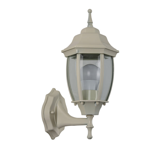 Essex Beige Upward Wall Lantern by Amond