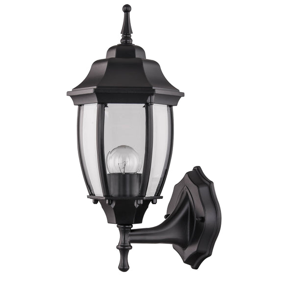 Essex Black Upward Wall Lantern by Amond