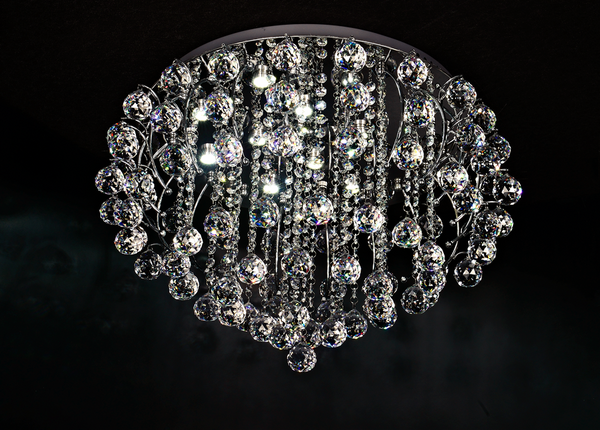 Gianna 500mm Crystal Ball Hub Ceiling Fxiture by Amond