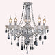 Theresa 5 Light Clear and Chrome Candelabra Chandelier by Amond