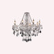 Theresa 8 Light Clear and Chrome Candelabra Chandelier by Amond