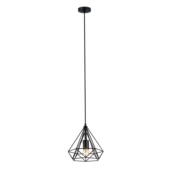 Inca 250 Black Prism Wireframe Pendant by Amond