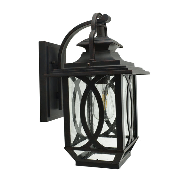 Kendal Black and Rust Exterior Coach Light by Amond