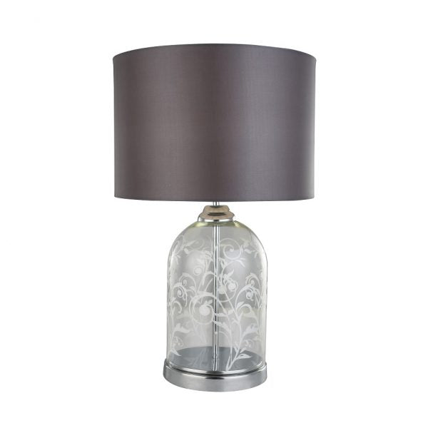 Lerato Floral Etched Table Lamp by Amond