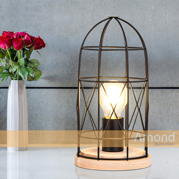 Pika Arch Cone Iron Frame Table Lamp by Amond