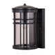 Stirling Black Cylinder Cross-cage Lantern Wall Exterior by Amond