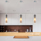Vida 1 Light Pendant Opal and Smoke Glass by Amond