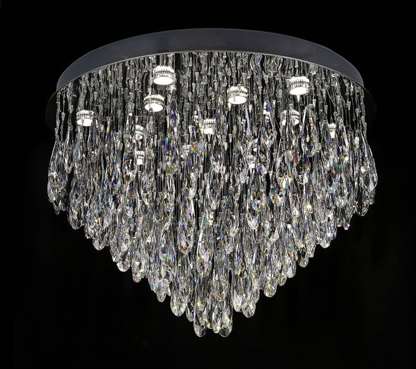 Raindrops 800mm Cascade Crystal Ceiling Fixture by Amond