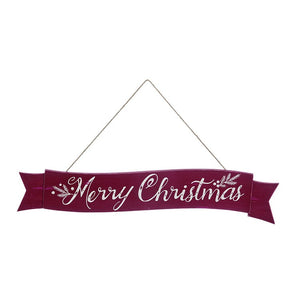 Merry Christmas Hanging Wall Banner