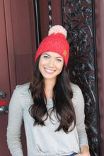 Panache Fleece Lined Knit Beanie Red